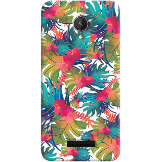 Oyehoye Micromax Canvas Spark Q380 Mobile Phone Back Cover With Colourful Abstract Art - Durable Matte Finish Hard Plastic Slim Case