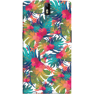 Oyehoye OnePlus One Mobile Phone Back Cover With Colourful Abstract Art - Durable Matte Finish Hard Plastic Slim Case