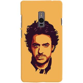 Oyehoye OnePlus 2 Mobile Phone Back Cover With Robert Downey Jr. - Durable Matte Finish Hard Plastic Slim Case