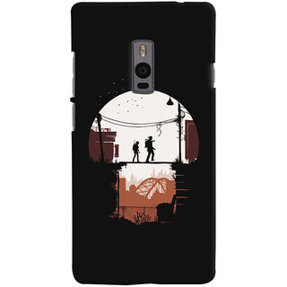 Oyehoye OnePlus 2 Mobile Phone Back Cover With Travellers Quirky - Durable Matte Finish Hard Plastic Slim Case