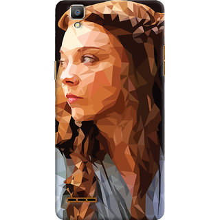 Oyehoye Oppo F1 Mobile Phone Back Cover With Low Poly Art - Durable Matte Finish Hard Plastic Slim Case
