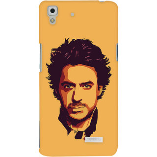 Oyehoye Oppo R7 Mobile Phone Back Cover With Robert Downey Jr. - Durable Matte Finish Hard Plastic Slim Case