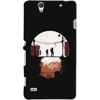 Oyehoye Sony Xperia C4 / Dual Sim Mobile Phone Back Cover With Travellers Quirky - Durable Matte Finish Hard Plastic Slim Case