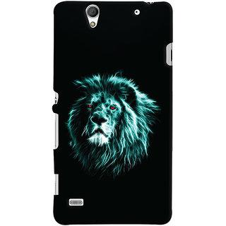 Oyehoye Sony Xperia C4 / Dual Sim Mobile Phone Back Cover With Lion Animal Art - Durable Matte Finish Hard Plastic Slim Case
