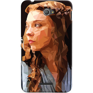 Oyehoye Sony Xperia E4 Mobile Phone Back Cover With Low Poly Art - Durable Matte Finish Hard Plastic Slim Case