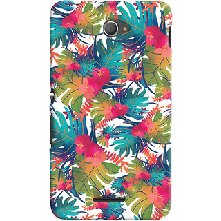 Oyehoye Sony Xperia E4 Mobile Phone Back Cover With Colourful Abstract Art - Durable Matte Finish Hard Plastic Slim Case