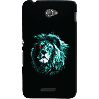 Oyehoye Sony Xperia E4 Mobile Phone Back Cover With Lion Animal Art - Durable Matte Finish Hard Plastic Slim Case