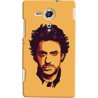 Oyehoye Sony Xperia SP Mobile Phone Back Cover With Robert Downey Jr. - Durable Matte Finish Hard Plastic Slim Case