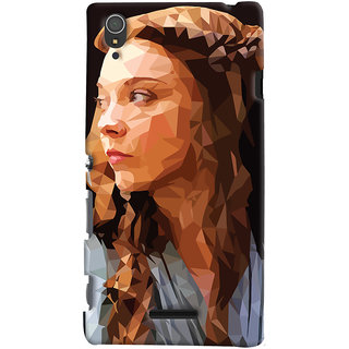 Oyehoye Sony Xperia T3 Mobile Phone Back Cover With Low Poly Art - Durable Matte Finish Hard Plastic Slim Case