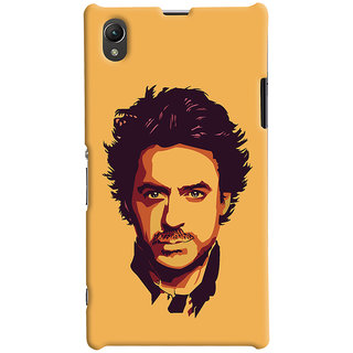 Oyehoye Sony Xperia Z1 Mobile Phone Back Cover With Robert Downey Jr. - Durable Matte Finish Hard Plastic Slim Case