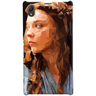 Oyehoye Sony Xperia Z1 Mobile Phone Back Cover With Low Poly Art - Durable Matte Finish Hard Plastic Slim Case