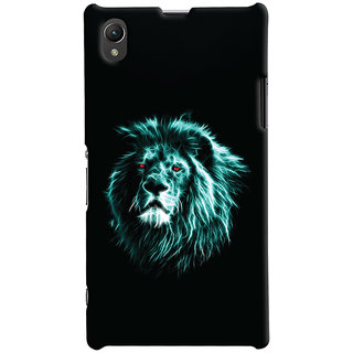 Oyehoye Sony Xperia Z1 Mobile Phone Back Cover With Lion Animal Art - Durable Matte Finish Hard Plastic Slim Case