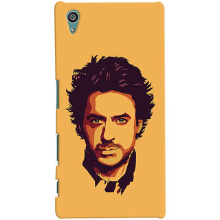 Oyehoye Sony Xperia Z5 Mobile Phone Back Cover With Robert Downey Jr. - Durable Matte Finish Hard Plastic Slim Case