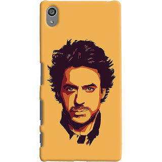 Oyehoye Sony Xperia Z5 Plus/ Z5 Premium Mobile Phone Back Cover With Robert Downey Jr. - Durable Matte Finish Hard Plastic Slim Case