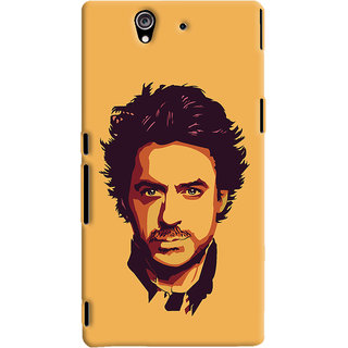 Oyehoye Sony Xperia Z Mobile Phone Back Cover With Robert Downey Jr. - Durable Matte Finish Hard Plastic Slim Case