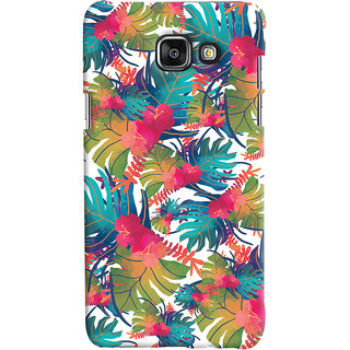 Oyehoye Samsung Galaxy A7 A710 (2016 Edition) Mobile Phone Back Cover With Colourful Abstract Art - Durable Matte Finish Hard Plastic Slim Case