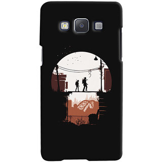 Oyehoye Samsung Galaxy E5 Mobile Phone Back Cover With Travellers Quirky - Durable Matte Finish Hard Plastic Slim Case