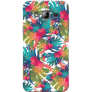 Oyehoye Samsung Galaxy J3 Mobile Phone Back Cover With Colourful Abstract Art - Durable Matte Finish Hard Plastic Slim Case