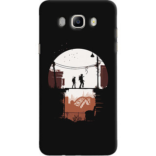 Oyehoye Samsung Galaxy J5 (2016) Mobile Phone Back Cover With Travellers Quirky - Durable Matte Finish Hard Plastic Slim Case