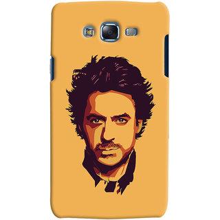 Oyehoye Samsung Galaxy J5 Mobile Phone Back Cover With Robert Downey Jr. - Durable Matte Finish Hard Plastic Slim Case
