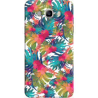 Oyehoye Samsung Galaxy J7 (2016) Mobile Phone Back Cover With Colourful Abstract Art - Durable Matte Finish Hard Plastic Slim Case
