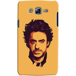 Oyehoye Samsung Galaxy J7 Mobile Phone Back Cover With Robert Downey Jr. - Durable Matte Finish Hard Plastic Slim Case