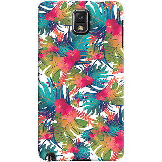 Oyehoye Samsung Galaxy Note 3 Mobile Phone Back Cover With Colourful Abstract Art - Durable Matte Finish Hard Plastic Slim Case