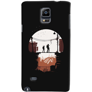 Oyehoye Samsung Galaxy Note 4 Mobile Phone Back Cover With Travellers Quirky - Durable Matte Finish Hard Plastic Slim Case