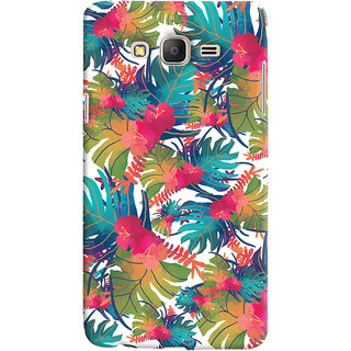Oyehoye Samsung Galaxy ON7 Mobile Phone Back Cover With Colourful Abstract Art - Durable Matte Finish Hard Plastic Slim Case