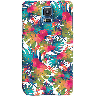 Oyehoye Samsung Galaxy S5 Mobile Phone Back Cover With Colourful Abstract Art - Durable Matte Finish Hard Plastic Slim Case