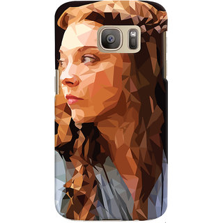 Oyehoye Samsung Galaxy S7 Mobile Phone Back Cover With Low Poly Art - Durable Matte Finish Hard Plastic Slim Case
