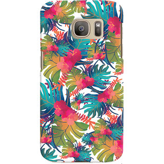 Oyehoye Samsung Galaxy S7 Mobile Phone Back Cover With Colourful Abstract Art - Durable Matte Finish Hard Plastic Slim Case