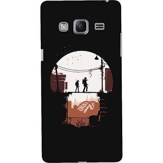 Oyehoye Samsung Galaxy Z3 Mobile Phone Back Cover With Travellers Quirky - Durable Matte Finish Hard Plastic Slim Case