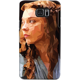 Oyehoye Samsung Galaxy Note 5 Dual Sim / Edge Plus Mobile Phone Back Cover With Low Poly Art - Durable Matte Finish Hard Plastic Slim Case