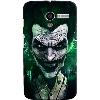 Oyehoye Motorola Moto X Mobile Phone Back Cover With Joker - Durable Matte Finish Hard Plastic Slim Case