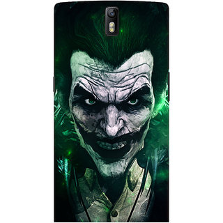 Oyehoye OnePlus One Mobile Phone Back Cover With Joker - Durable Matte Finish Hard Plastic Slim Case