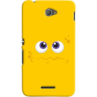 Oyehoye Sony Xperia E4 Mobile Phone Back Cover With Smiley Expressions Style - Durable Matte Finish Hard Plastic Slim Case