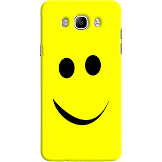 Oyehoye Samsung Galaxy J7 (2016) Mobile Phone Back Cover With Smiley Expressions Style - Durable Matte Finish Hard Plastic Slim Case