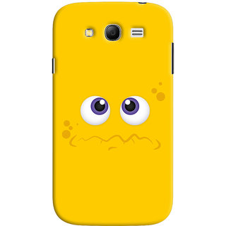 Oyehoye Samsung Galaxy Grand Neo Plus Mobile Phone Back Cover With Smiley Expressions Style - Durable Matte Finish Hard Plastic Slim Case