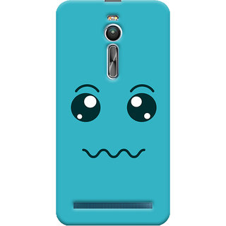 Oyehoye Asus Zenfone 2 ZE550ML Mobile Phone Back Cover With Smiley Expressions Style - Durable Matte Finish Hard Plastic Slim Case