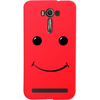 Oyehoye Asus Zenfone 2 Laser ZE601KL Mobile Phone Back Cover With Smiley Expressions Style - Durable Matte Finish Hard Plastic Slim Case
