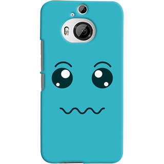 Oyehoye HTC One M9 Plus Mobile Phone Back Cover With Smiley Expressions Style - Durable Matte Finish Hard Plastic Slim Case