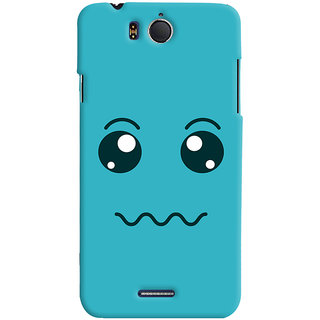 Oyehoye Infocus M530 Mobile Phone Back Cover With Smiley Expressions Style - Durable Matte Finish Hard Plastic Slim Case