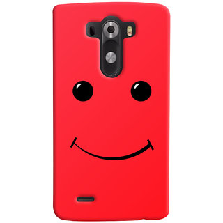 Oyehoye LG G3/ Optimus G3 Mobile Phone Back Cover With Smiley Expressions Style - Durable Matte Finish Hard Plastic Slim Case