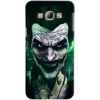 Oyehoye Samsung Galaxy A8 (2015) Mobile Phone Back Cover With Joker - Durable Matte Finish Hard Plastic Slim Case