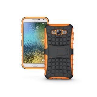 Samsung Galaxy E7 Case  CUBIX Defender Series Dual Layer Hybrid TPU + PC Kickstand Case Cover for Samsung Galaxy E7 (Orange)