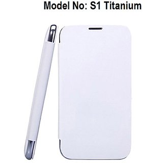 Premium Quality Flip/Book Cover For Karbonn S1 Titanium (White) available at ShopClues for Rs.249
