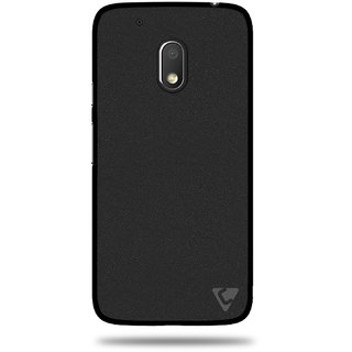 Ceego Premium Pudding TPU Back Cover for Moto G4 Play - Flexible Moto G Play, 4th Gen Case (Sparkling Black)