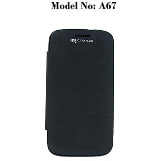 Premium Quality Flip/Book Cover For Micromax A67 Bolt (Black) available at ShopClues for Rs.249
