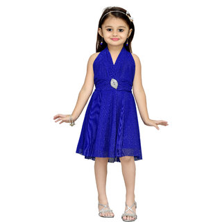 Get best deal for Mid Age Girls Blue Layered Dress at Compare Hatke